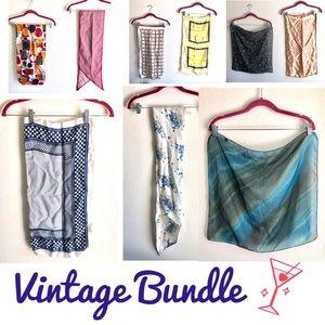 Bundle of 9 Vintage Scarves